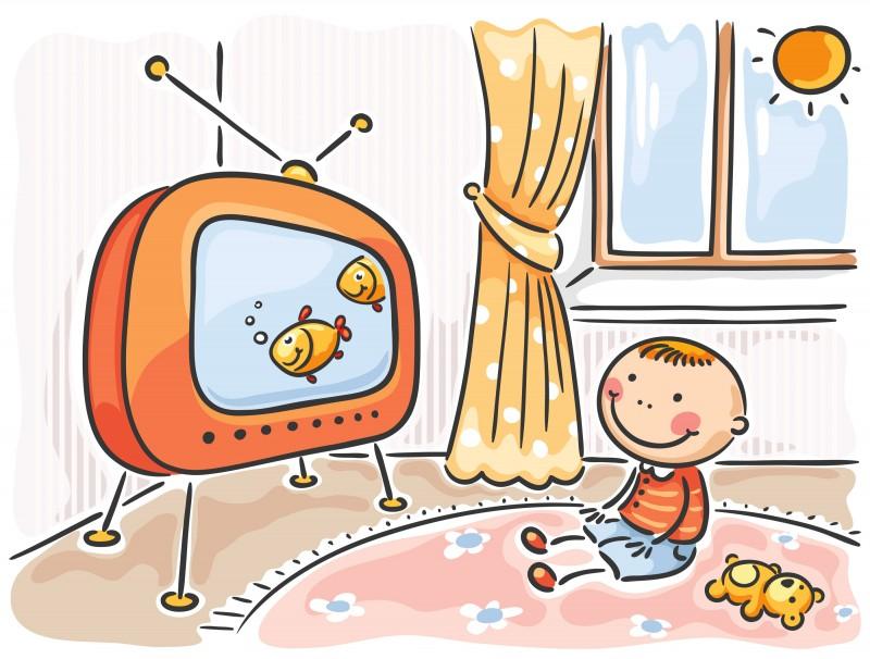 fata televizorului