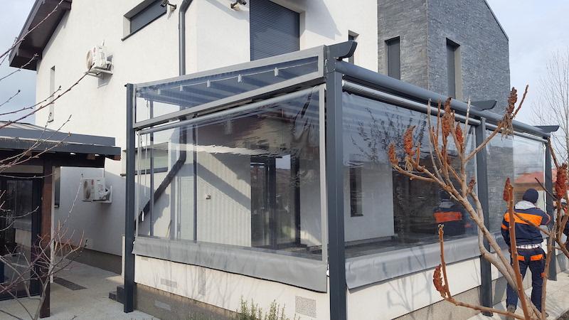 folie transparentă terasă