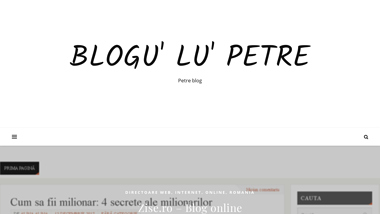 Blogu' lu' Petre