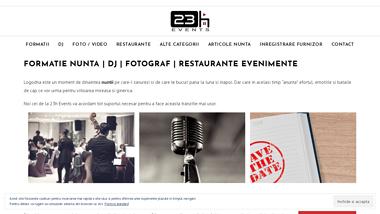 23h Events - formatie, restaurante, fotograf si dj nunta