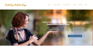Informatii utile despre psiholog psihoterapeut Violeta Popa