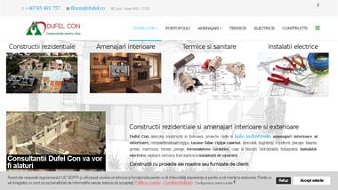 Firma constructii si amenajari interioare, constructii hale industriale - Dufel Con
