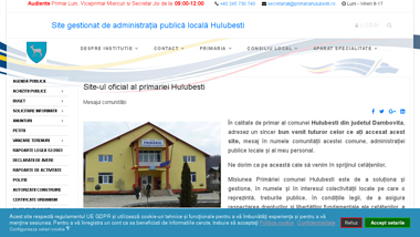 UAT Primaria Hulubesti  - site gestionat de administraţia publică locală