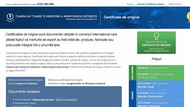 Eliberare certificate de origine