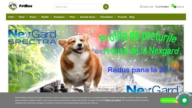 Petmax - magazin cu mancare, accesorii si medicamente pentru animale